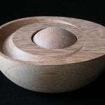 Iroko de 13,5 x 11 x 6,3 cm